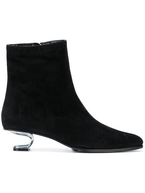 Nicole Saldaña Sculptural Heeled Boots - Farfetch