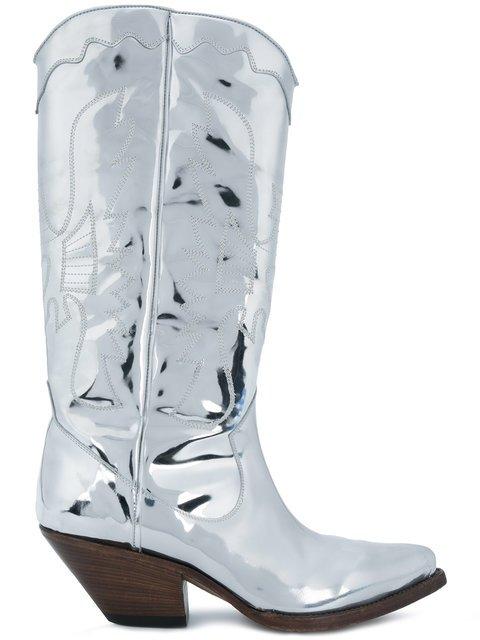 Buttero Elise Mirrored Western Boots - Farfetch