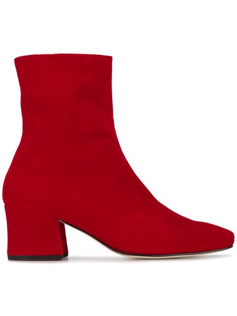 Dorateymur Red Suede Sybil 60 Ankle Boots - Farfetch