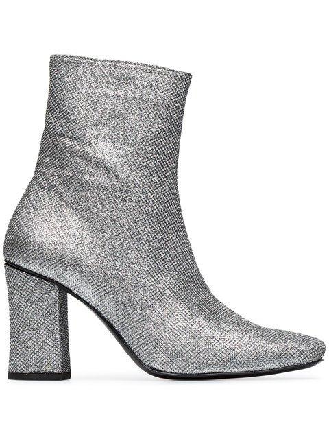 Dorateymur Silver Glitter Sybil 90 Boots - Farfetch