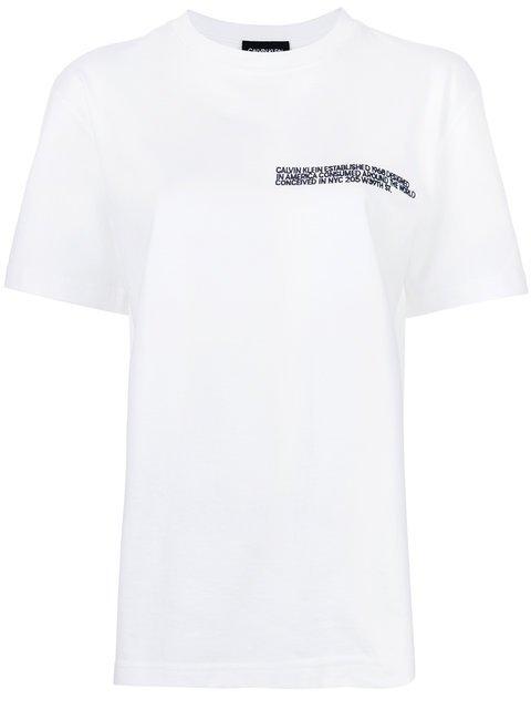Calvin Klein 205W39nyc Embroidered Statement T-shirt - Farfetch