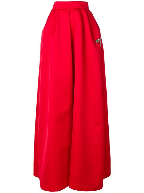 Rochas Full Dragonfly Patch Skirt - Farfetch