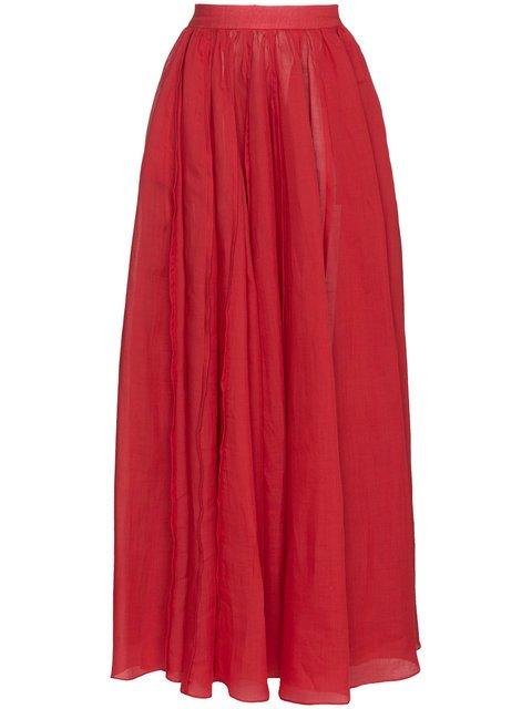 Three Graces Arlene High Waist Ramie Maxi Skirt - Farfetch