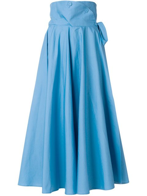 Sara Battaglia High-waisted Full Midi Skirt - Farfetch