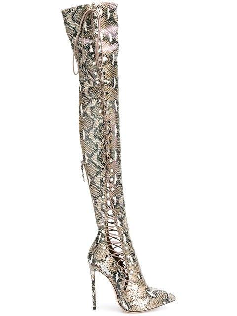 Gianni Renzi Lace-up Knee Boots - Farfetch