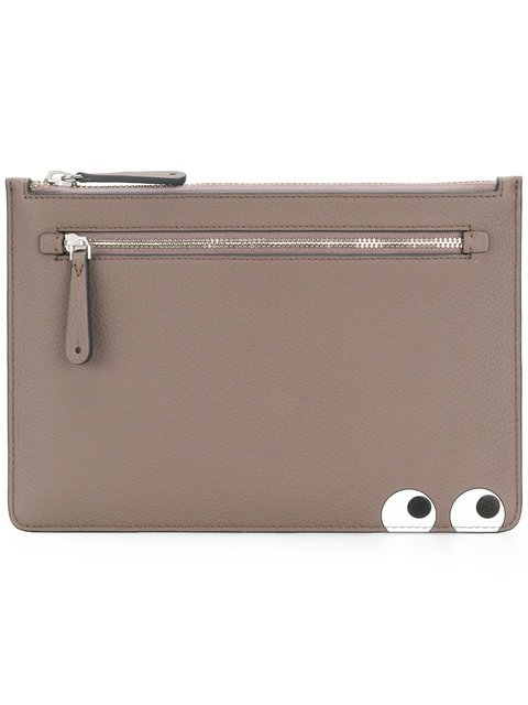 Anya Hindmarch Eyes Double Zip Pouch - Farfetch