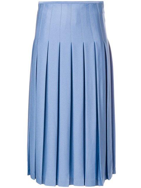 Victoria Beckham Mid Length Pleated Skirt - Farfetch