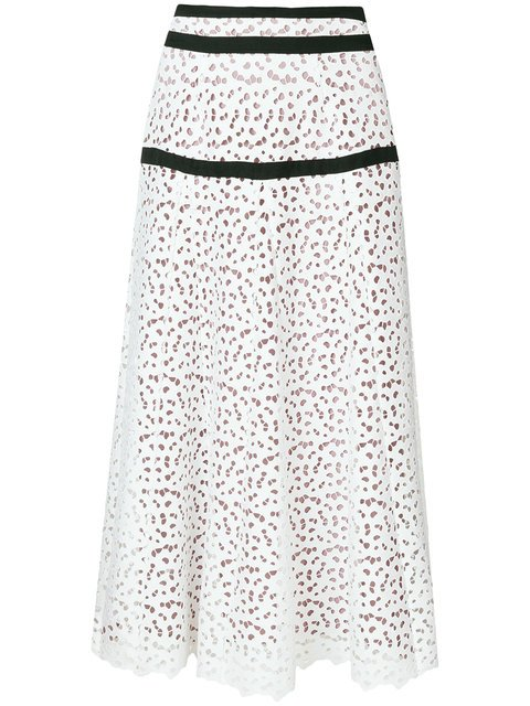 Just Cavalli Broiderie Anglaise Maxi Skirt - Farfetch