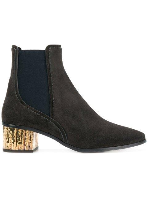 Chloé Contrasting Heel Boots - Farfetch