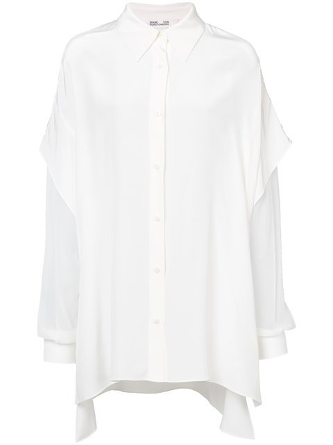 Diane Von Furstenberg Sheer Sleeves Shirt - Farfetch