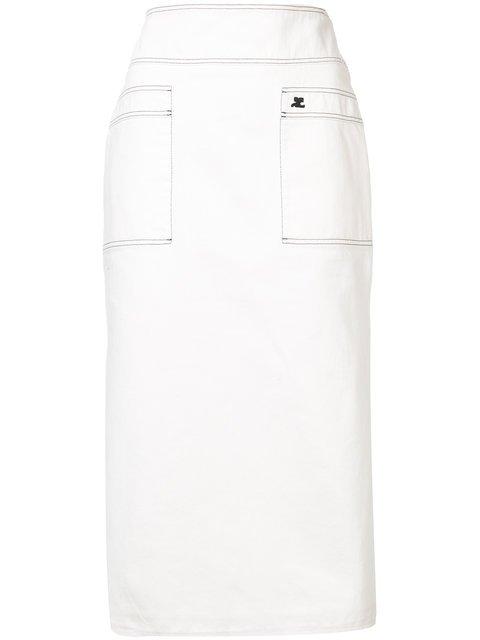 Courrèges High Rise Skirt - Farfetch