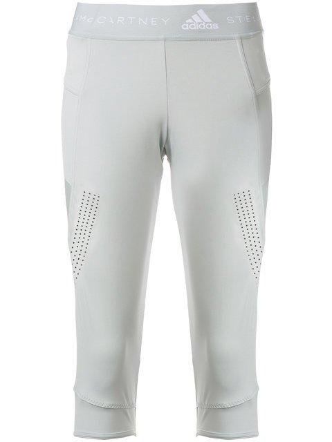 Adidas By Stella Mccartney Cropped Recycled Leggings - Farfetch