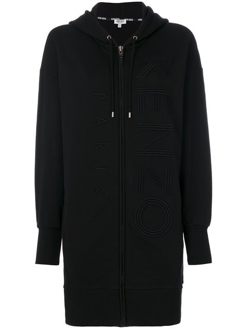 Kenzo Embroidered Long-length Hoodie - Farfetch