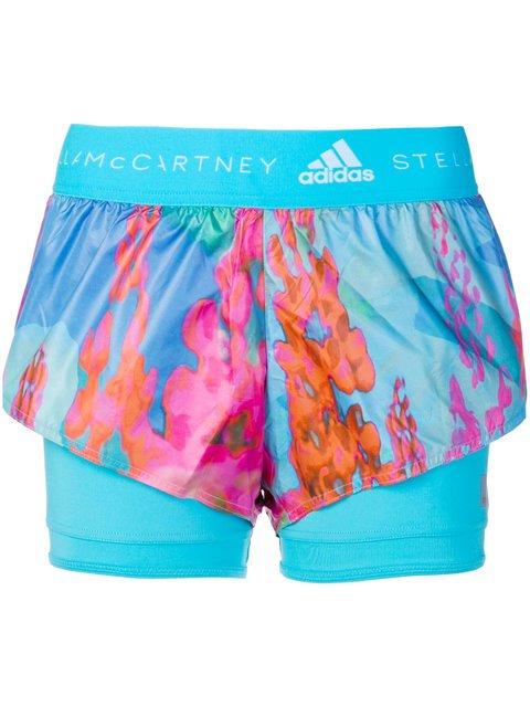 Adidas By Stella Mccartney Layered Look Sports Leggings - Farfetch