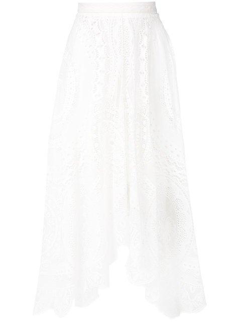 Chloé Asymmetric Lace Skirt - Farfetch