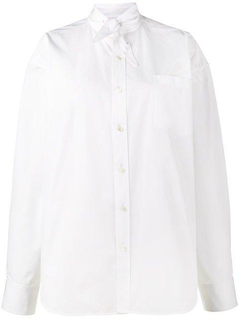 Balenciaga Scarf Tie Shirt - Farfetch