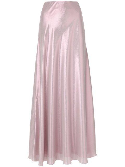 Alberta Ferretti Shimmery Maxi Skirt - Farfetch