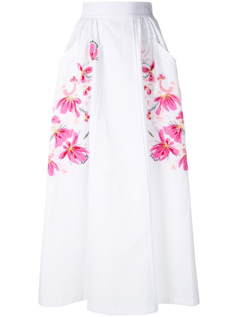 Ermanno Scervino Floral Embroidered Maxi Skirt - Farfetch