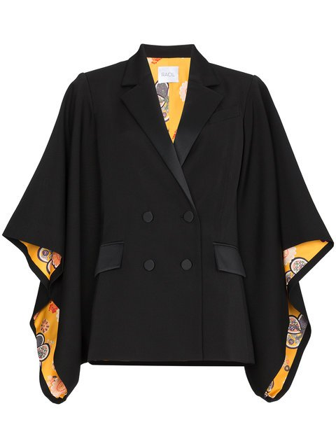 Racil Kyoto Contrast Lining Virgin Wool Kimono Jacket - Farfetch