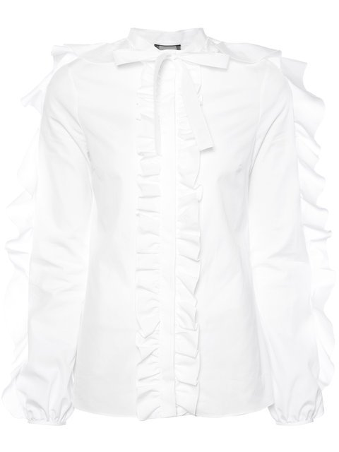 Giambattista Valli Long Sleeved Ruffle Shirt - Farfetch