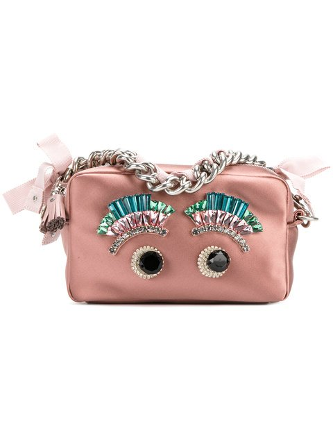 Anya Hindmarch Eyes Chain Clutch Bag - Farfetch
