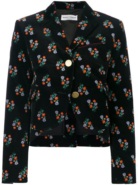 Sonia Rykiel Floral Print Peplum Jacket - Farfetch