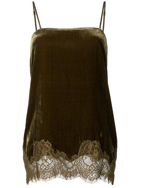 Gold Hawk Lace Hem Top - Farfetch