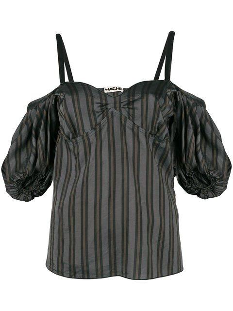 Hache Striped Dropped Shoulders Blouse - Farfetch