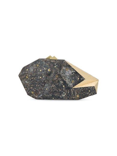 Nathalie Trad Black Polygonia Stars Clutch Bag - Farfetch