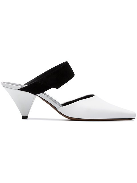 Neous White Seven 60 Suede And Leather Pumps - Farfetch