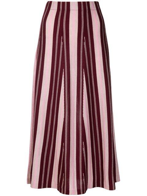 Gabriela Hearst Cashmere Striped Skirt - Farfetch