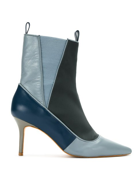 Sarah Chofakian Color Blocked Ankle Boots - Farfetch