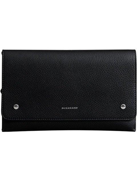 Burberry Two-tone Leather Wristlet Clutch - Farfetch