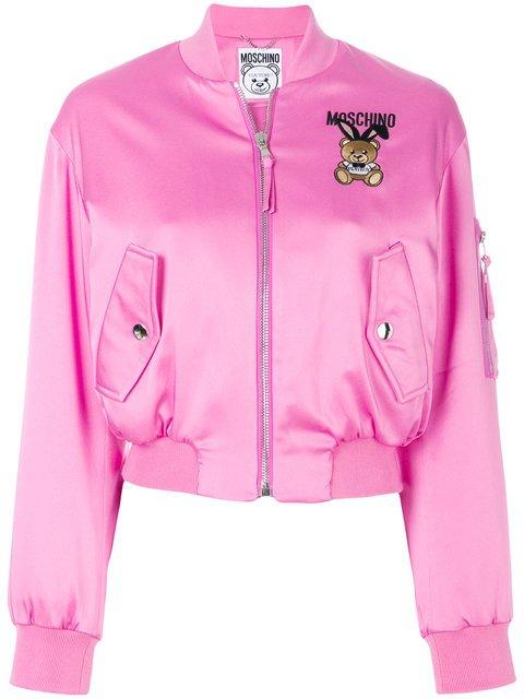 Moschino Playboy Toy Bear Bomber Jacket - Farfetch