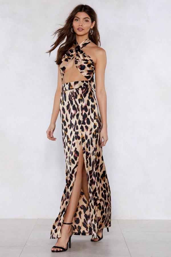 So Fierce Leopard Top and Maxi Skirt