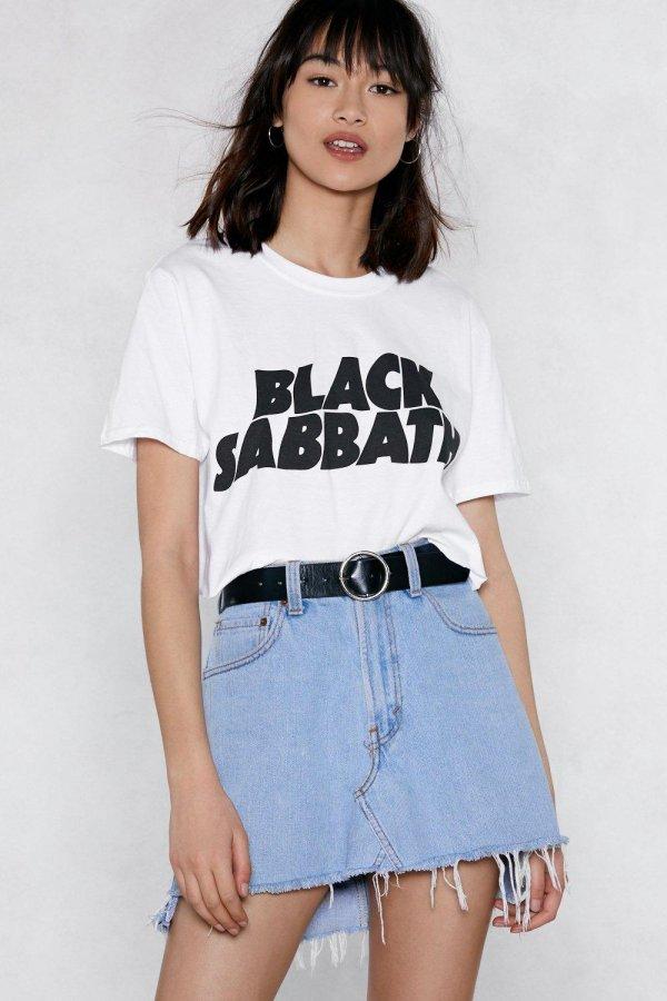 Black Sabbath Cropped Tee