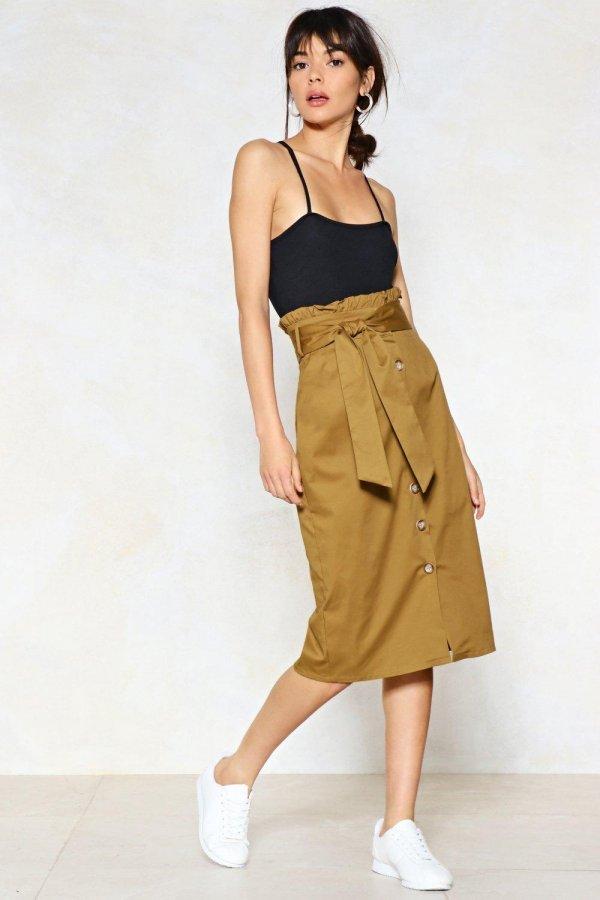 It\'s In the Bag Midi Skirt