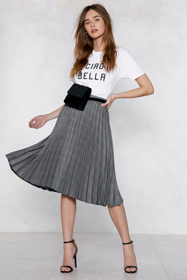 Would You Pleat? Midi Skirt