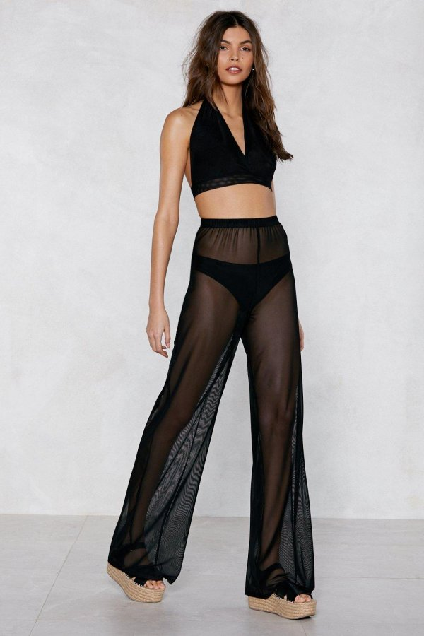 Plain Sailing Sheer Cover-Up Pants