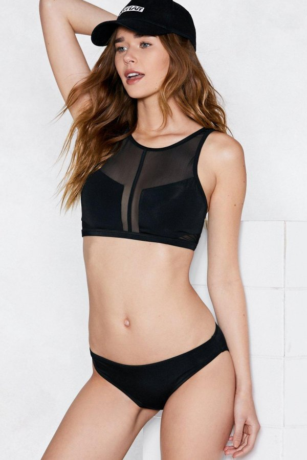 Sheer Up Mesh Bikini Set