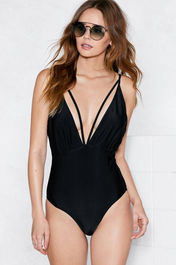 Deep Your Word Strappy Swimsuit