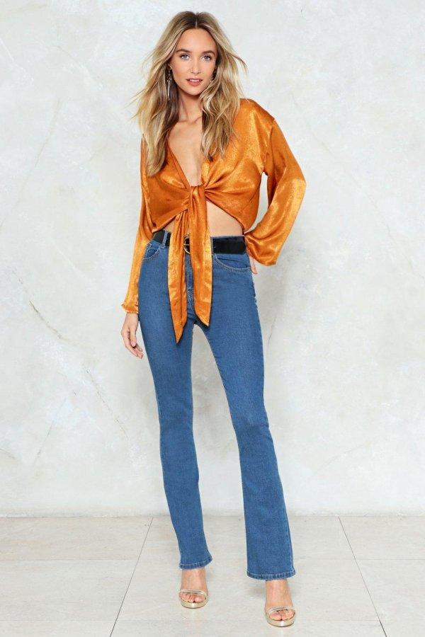 Like I Flare High-Waisted Jeans