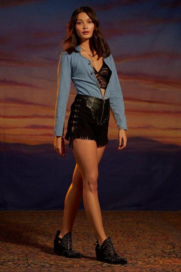 Nasty Gal Studio Joan Vegan Suede Shorts