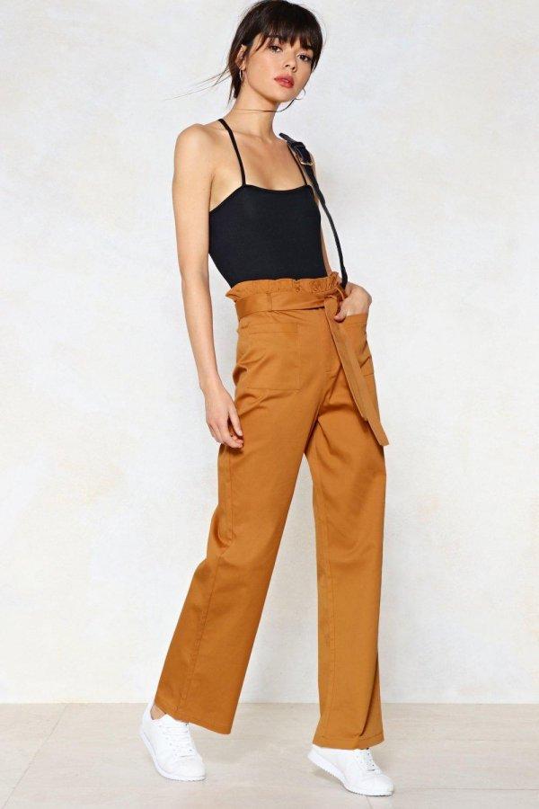 Bag Along High-Waisted Pants