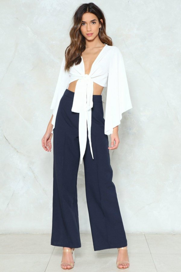 Making Wide Strides High Waisted Pants