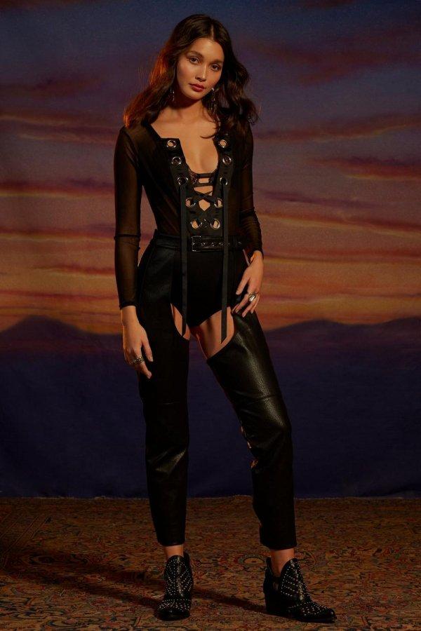 Nasty Gal Studio Gwen Vegan Leather Chaps