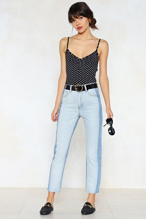 Two Can Play At That Game Two-Tone Jeans