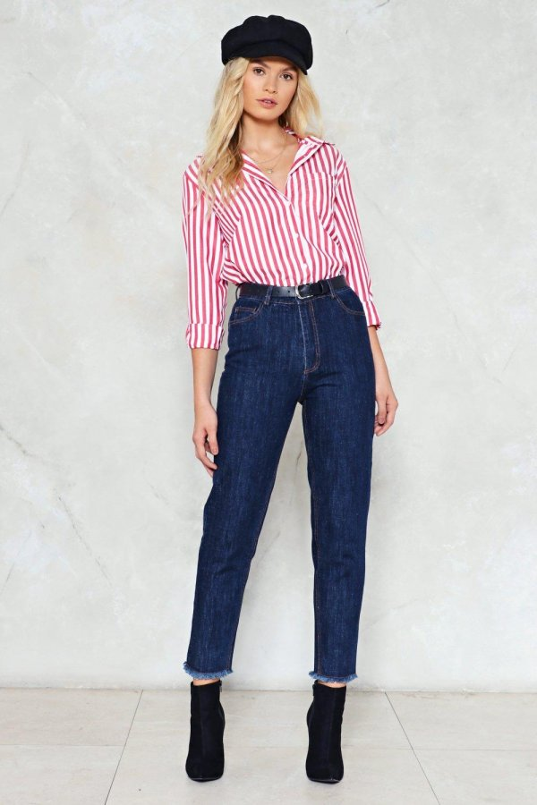 Bottoms Up High-Waisted Jeans