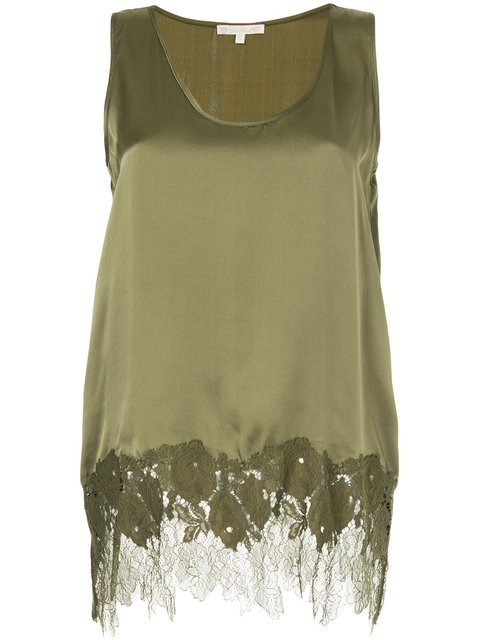 Gold Hawk Lace Insert Blouse - Farfetch