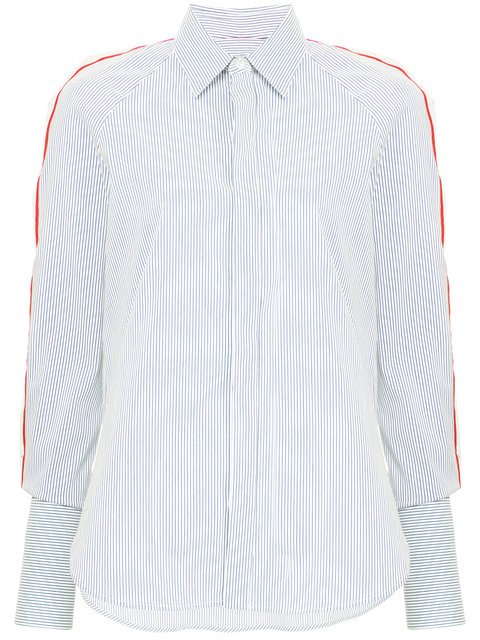 Monse Striped Cold-shoulder Shirt - Farfetch